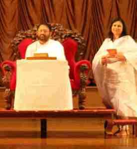 Meeta Shah with Gurudevshri Rakeshbhai